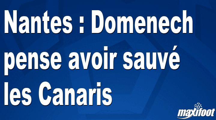 Nantes : Domenech pense avoir sauvé les Canaris